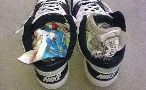 как сушить обувь газетами