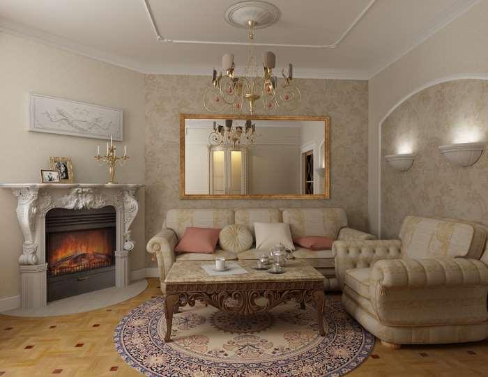 Фото лепнины в дизайне гостиных