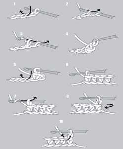 амигуруми одиночный узел схема