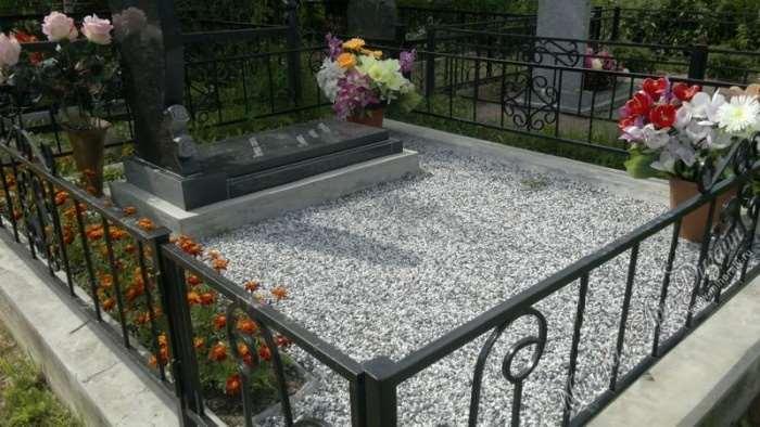 Чем оформить могилу на кладбище своими руками фото